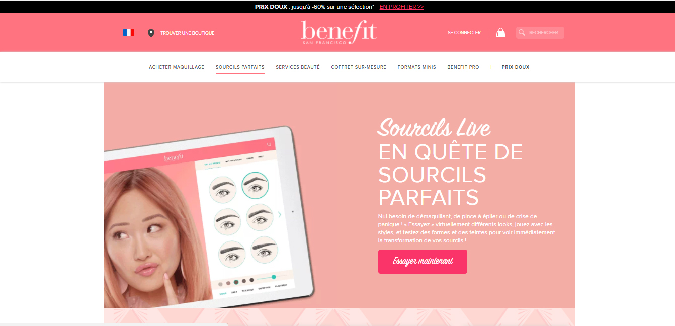 sourcils live screen
